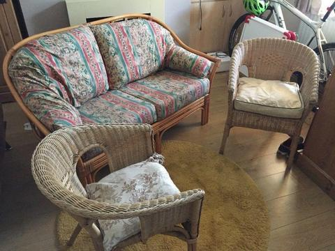 conservatory furniture set of sofa and two chairs