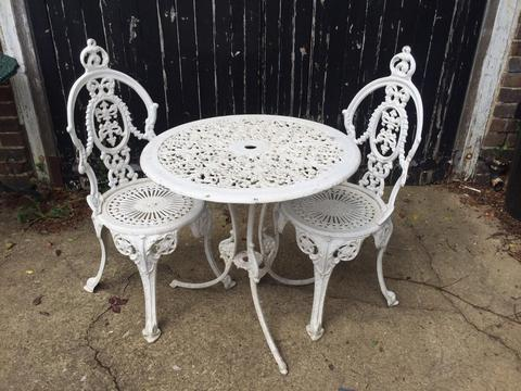 Bistro garden table and chairs £85