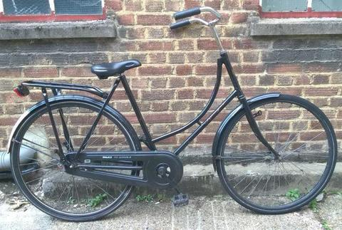 Vintage ladies Omabike Omafiets dutch bike RANGER in black 1 speed, size 21in - Welcome for ride