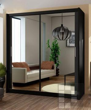 BRAND NEW MIRROR SLIDING DOOR WARDROBE CASH ON DELIVERY