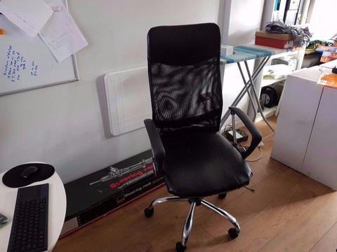 Computer Desk Chair Mesh & Leather Effect Adjustable Office Chair £20 o.n.o CHEAP BARGAIN