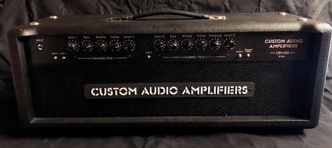 Custom Audio Amplifiers OD100 SE Plus 100 Watt Head c/w Footswitch and Padded Cover