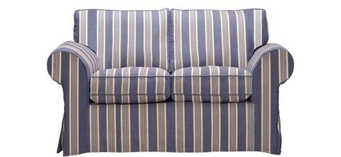 Brand New Newport 2 Seater Sofa, Striped Loose Cover, Moulded Foam Cost £440