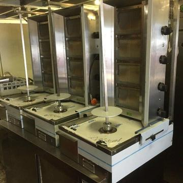 DONER KEBAB MAKINASI ARCHWAY KEBAB MACHINE , 4 BURNER SHAWARMA MACHINE , DONER MACHINE