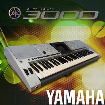 SERVICED Yamaha PSR-3000 + music rest + manual + USB stick (4000 styles) WARRANTY