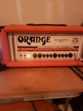 Orange rockerverb mk11 50w head orangr 2x12 cab