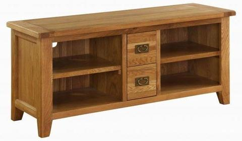 Vancouver Oak Large TV Cabinet. 153cm wide. VXE002 - TV Cabinet