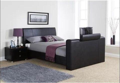King size TV leather bed