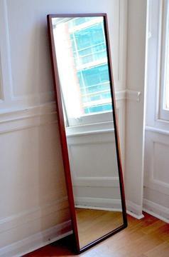Vintage Danish Style Teak Full Size Mirror. Delivery. Modern / Midcentury