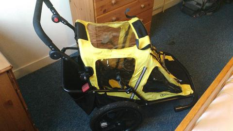 Bike trailer BUMPER solo explorer yellow with attachments