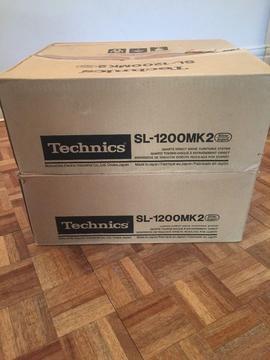 Technics SL-1200 MK2 Turntables x 2