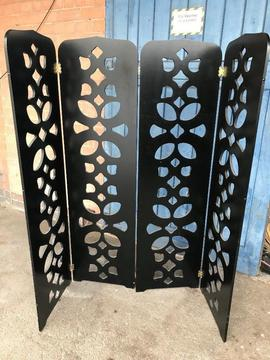 Gothic Solid Wood Folding Screen Room Divider Unusual Rare Design