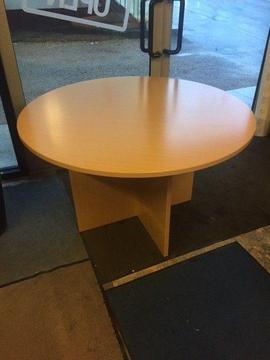Beech round meeting table