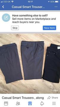 Boys casual smart trousers