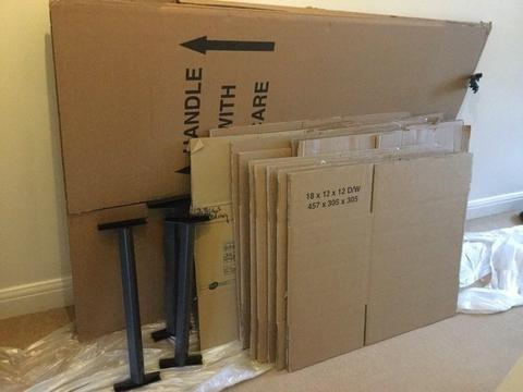 Cardboard hanging wardrobes and boxes, ideal for house move