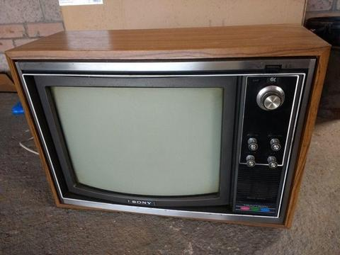 Vintage Sony Trinitron TV