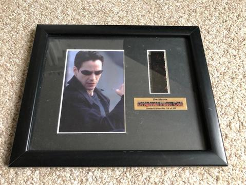 The Matrix Limited Edition Original Film Cell