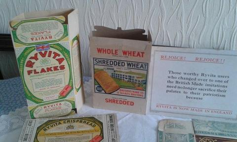 Assortment of 1930s Shop Ads and Display Items
