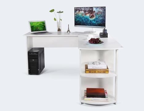 White L-Shaped Computer Desk - New in box