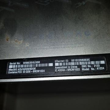 IMAC DESKTOP 20/2.4/2×1G/320/SD/UK MODULE NO.A1224