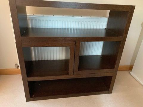 Next Opus Walnut L Shape Bookcase Set Of 2